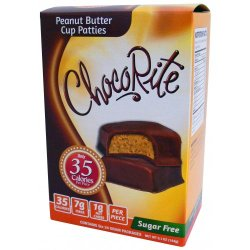 Chocorite Chocolates Peanut Butter Cup Patties, 6pack