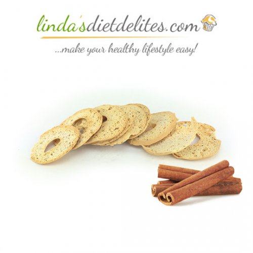 Lindas Diet Delites Low Carb Bagel Chips Cinnamon