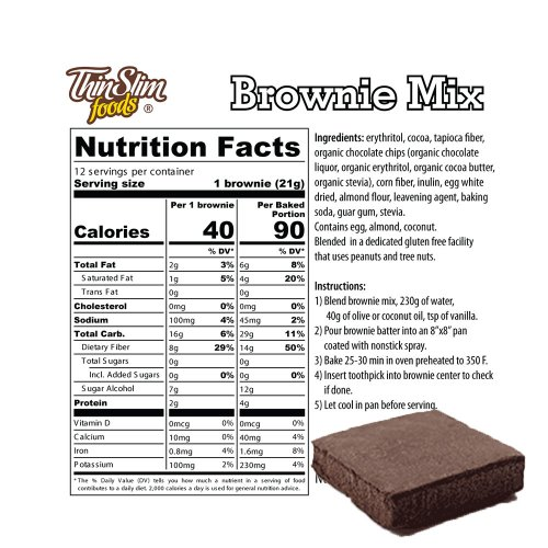 ThinSlim Foods Low Carb Mix Brownie