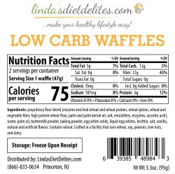 Lindas Diet Delites Low Carb Waffles