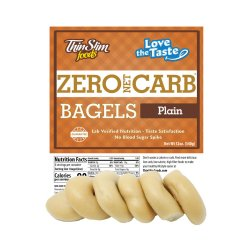 ThinSlim Foods Love-the-Taste Bagels Plain 6 pack