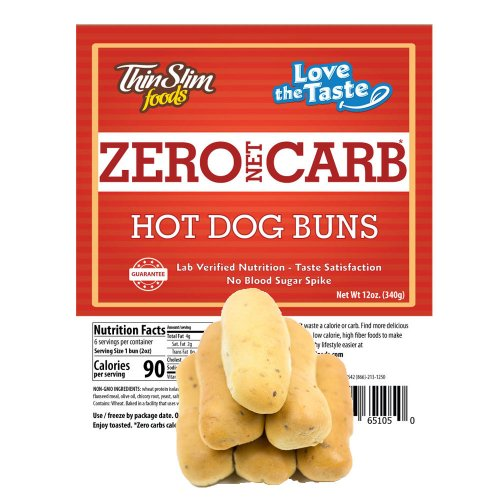 ThinSlim Foods Love-the-Taste Hot Dog Buns