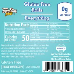 ThinSlim Foods Gluten Free Rolls Everything