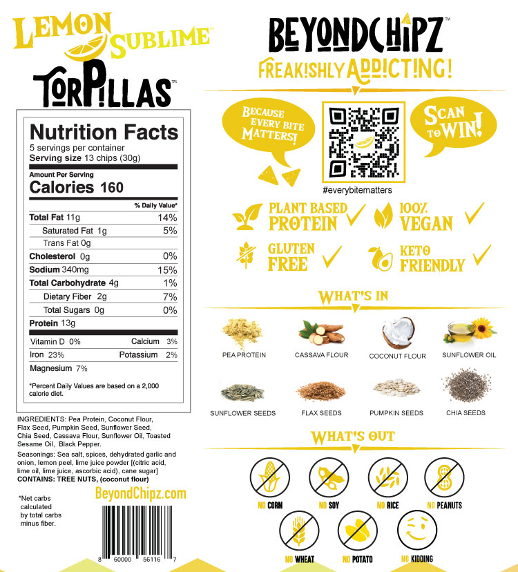 BeyondChipz Torpillas Lemon Sublime - Click Image to Close