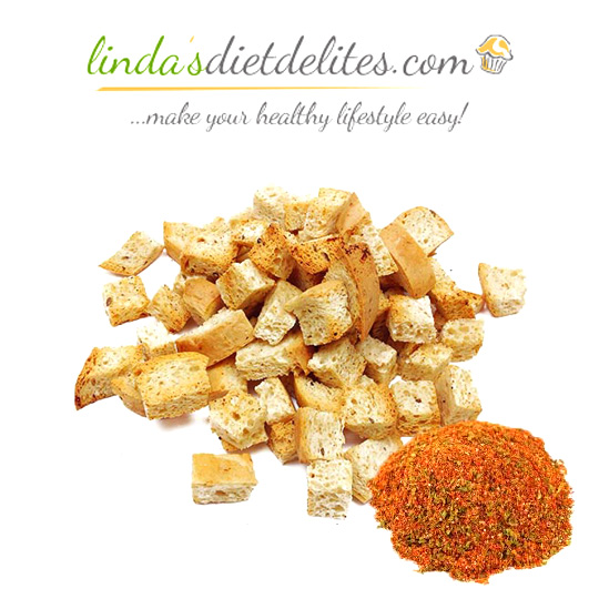 Lindas Diet Delites Low Carb Croutons Seasoned