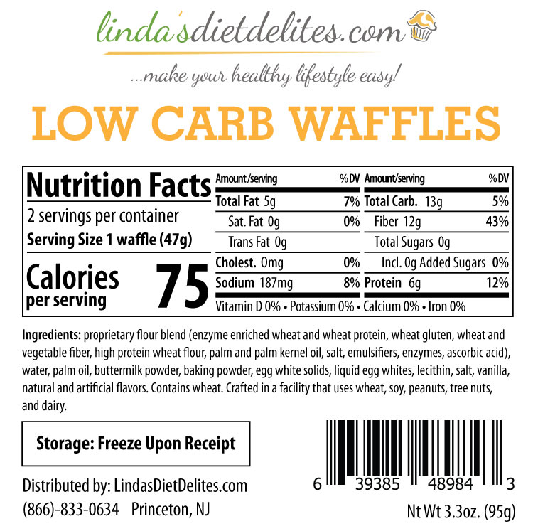 Lindas Diet Delites Low Carb Waffles Perishable Thinslim Foods Low Carb Bread And Low Carb Foods