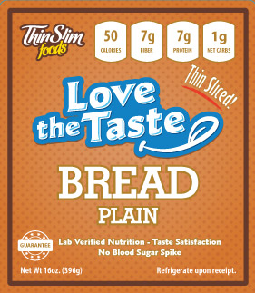 ThinSlim Foods Love-the-Taste Bread Thin Sliced Plain