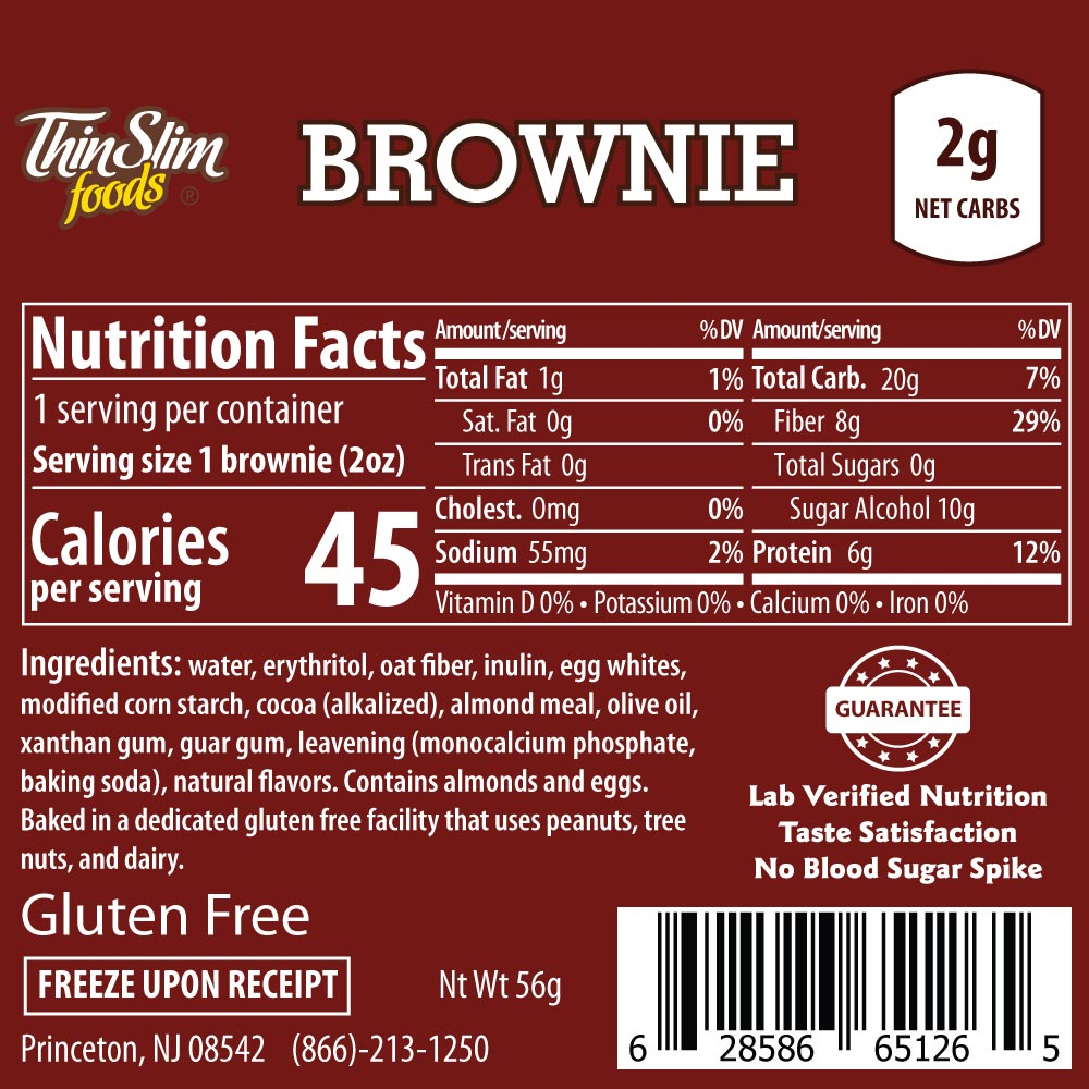 Thinslim Foods Brownie Thinslim Foods Low Carb Brownie