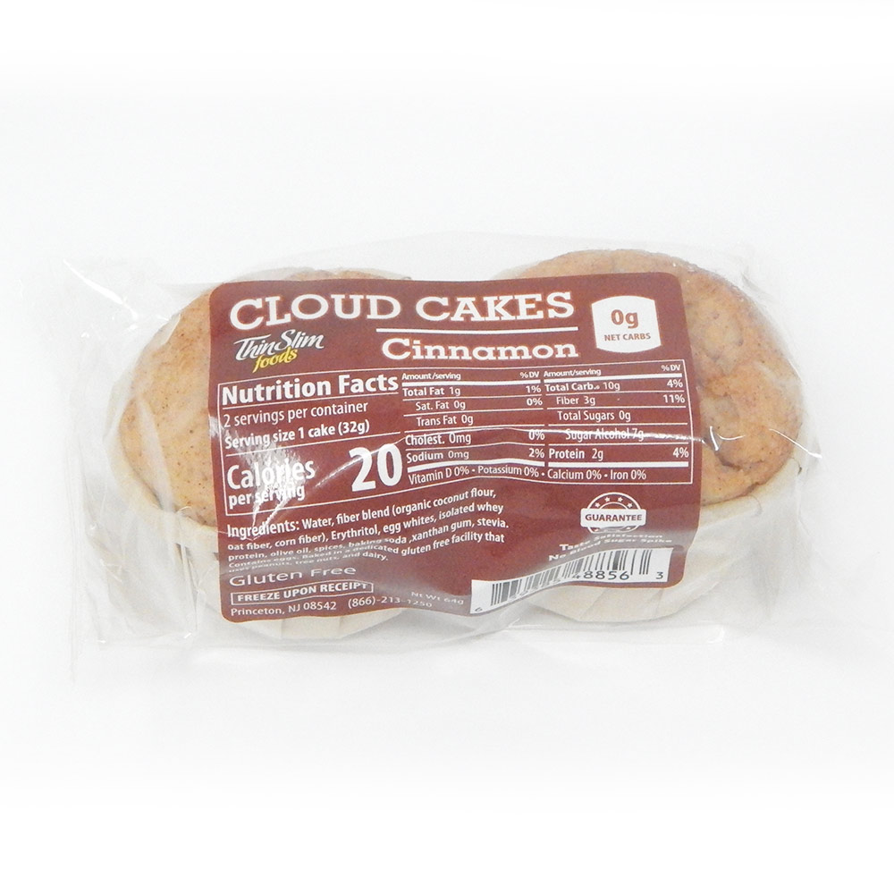 ThinSlim Foods Cloud Cakes Cinnamon, 2pack