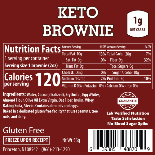 ThinSlim Foods Keto Brownie - Click Image to Close