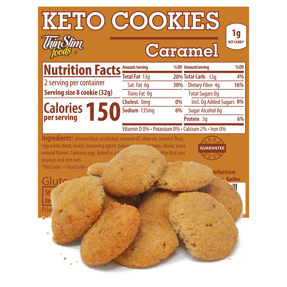 ThinSlim Foods Keto Cookies Caramel - Click Image to Close