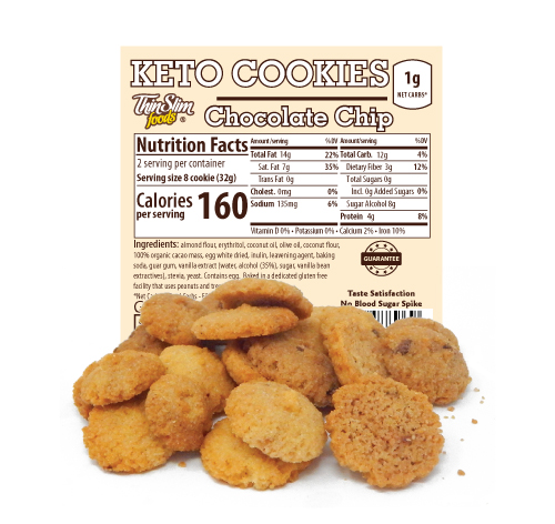 ThinSlim Foods Keto Cookies Chocolate Chip