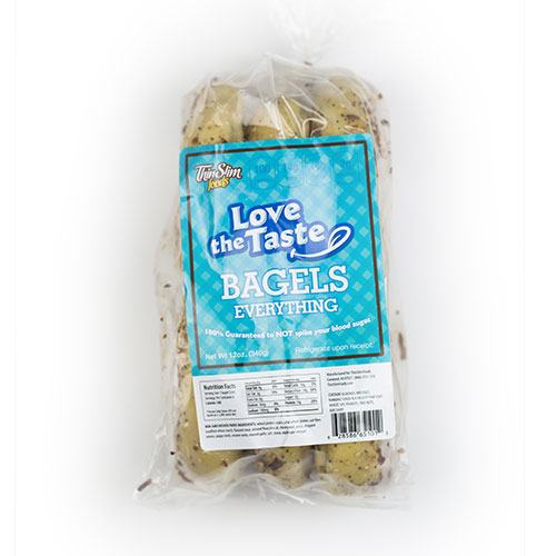 ThinSlim Foods Love-the-Taste Bagels Everything 6 pack