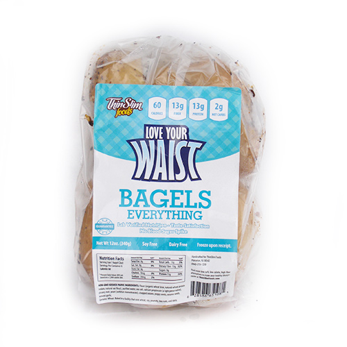 ThinSlim Foods Love-Your-Waist Bagels Everything 6 pack