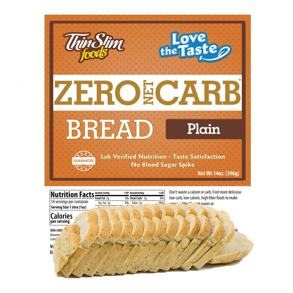 Zero Net Carb Low Carb Bread Plain Thinslim Foods