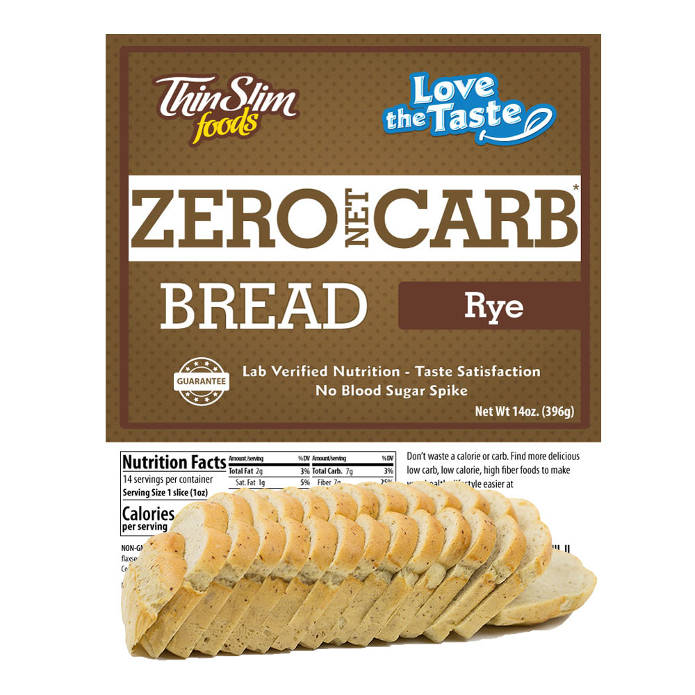 ThinSlim Foods Love-the-Taste Bread Rye - Click Image to Close