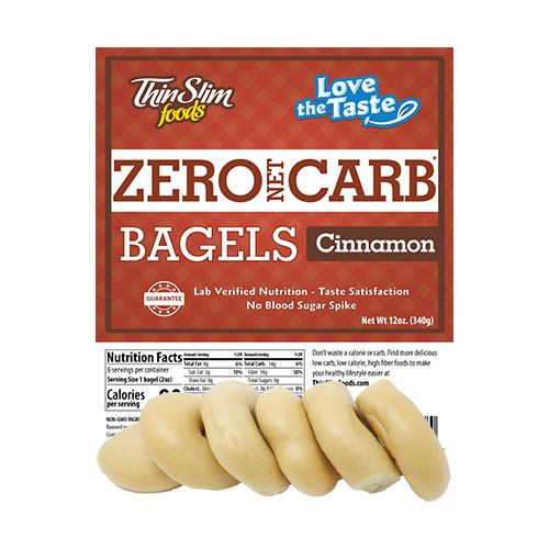 ThinSlim Foods Love-the-Taste Bagels Cinnamon 6 pack