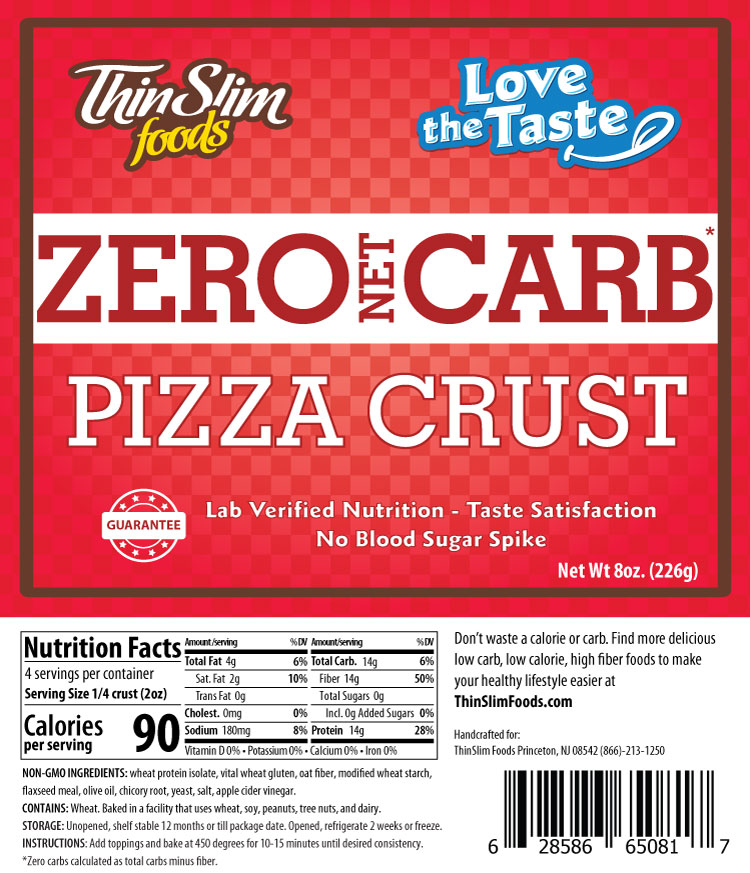 ThinSlim Foods Love-the-Taste Pizza Crust - Click Image to Close