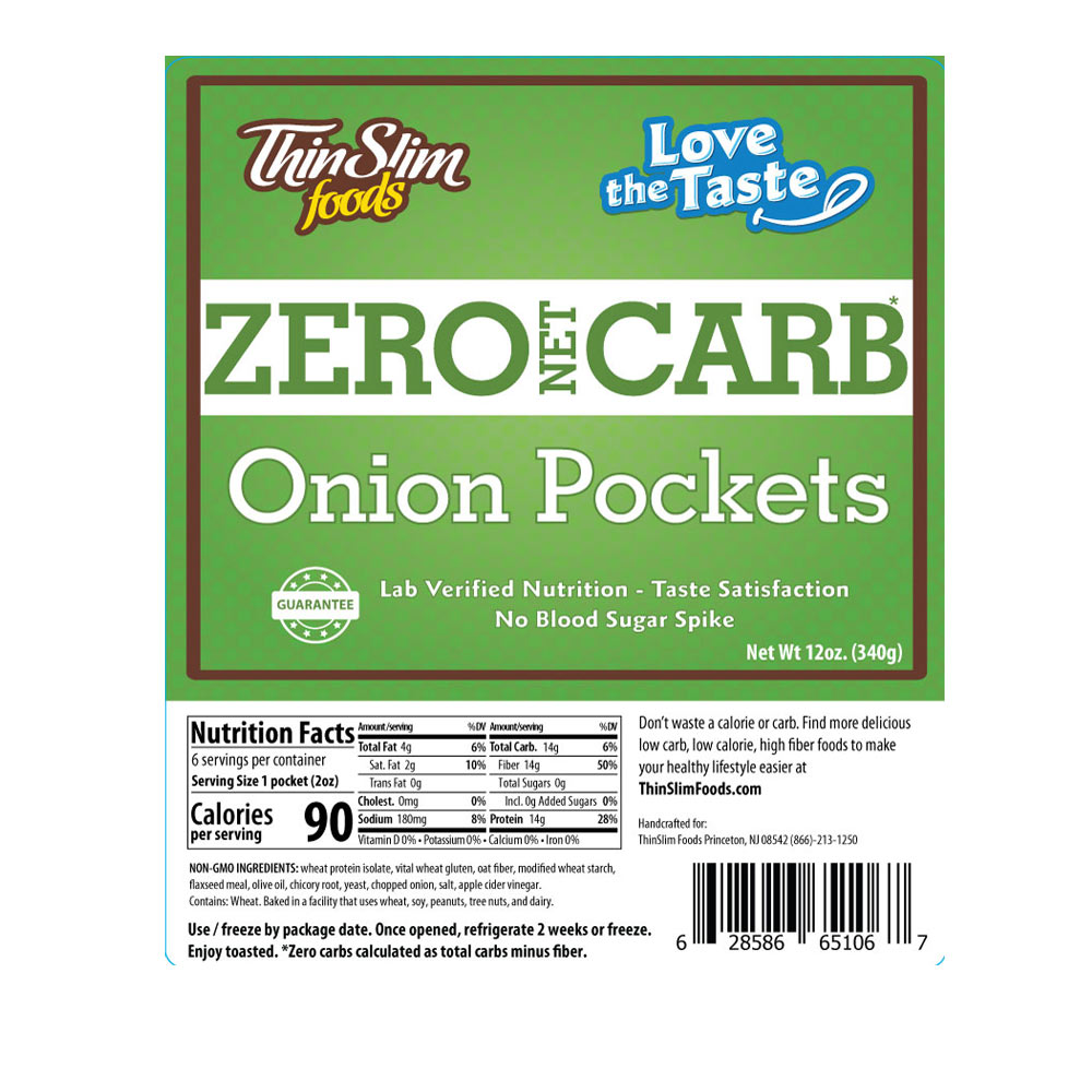 ThinSlim Foods Love-the-Taste Pockets Onion - Click Image to Close