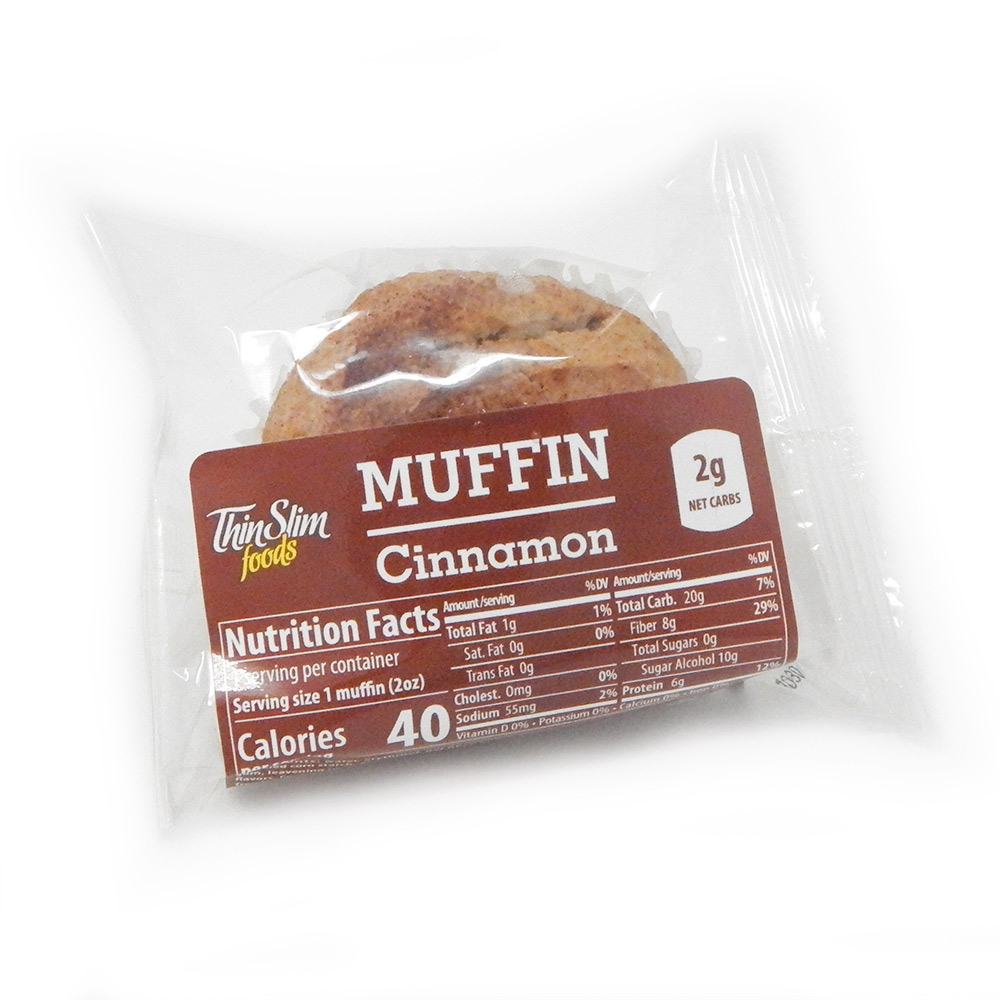 ThinSlim Foods Muffins Cinnamon - Click Image to Close