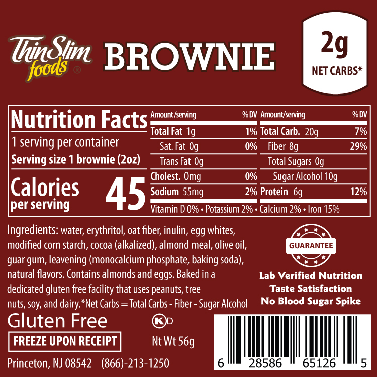ThinSlim Foods Brownie - Click Image to Close