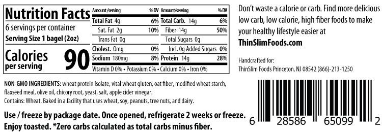 Thinslim Foods Love-The-Taste Bagels Plain